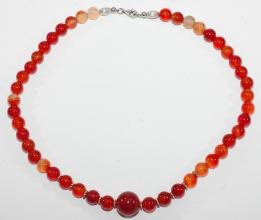 Carneol-Halskette mit 925er Silber