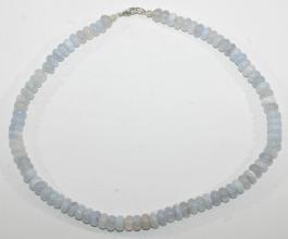 Chalcedon- Reifen Halskettemit 925er Silber Hochwertig verarbeitete-Halskette