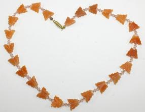 Rote Jaspis Halskette mit Swarovski Zwischenteile