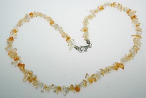 Jaspis Splitter Halskette