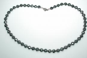 Wunderschöner Hämatit Halskette facettiert und versilbert