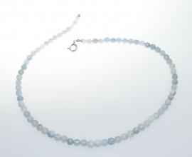 Wunderschöne Aquamarin Kugel Halskette Facettiert