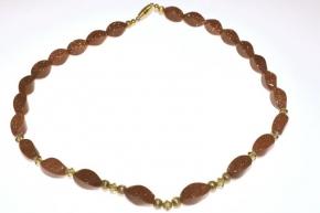 Goldfluss-Halskette mit Swarovski Zwischenteile
