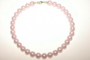 Wunderschöne Hell Rosa Farbe Muschelkernperle Halskette mit 925 Silber