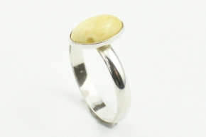 Wunderschöner Bernstein Ring in 925er Silbergefasst