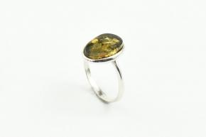 Bernstein Ring in 925er Sterling Silber gefasst