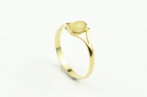 Bernstein Ring in 925er Silber vergoldet gefasst