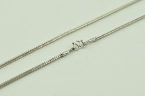 Schlauch Silber Halskette