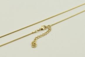Schlangen Halskette vergoldet