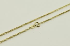 Zopf Halskette vergoldet