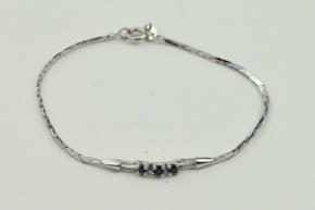 Sterling Silber Armband mit Saphiren