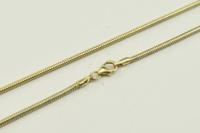 Schlangen Halskette Silber vergoldet