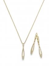Gold Set aus Collier und Ohrhänger