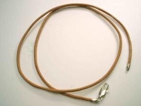 45 cm Lederband aus Ziegenrundleder-Natur