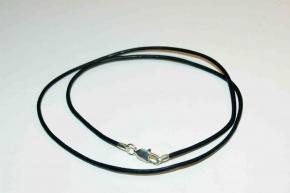 43 cm Lederband aus Ziegenrundleder-Schwarz